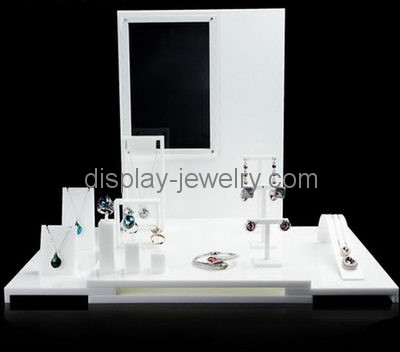 Custom Acrylic Product Display Standing Necklace Holder Cheap Gorgeous Jewellery Display Stands Wholesale