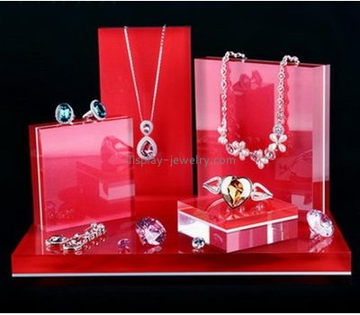 Factory direct sale acrylic jewellery display stand display counter designs necklace display stands NDJ-004