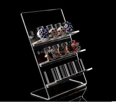 Custom design acrylic table top plastic display stands clear jewelry display small display stands RDJ-043