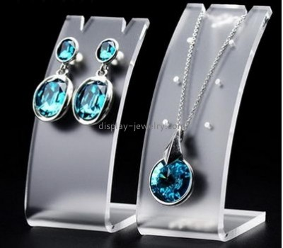 Wholesale clear table top display stands earring necklace holder custom acrylic displays EDJ-024