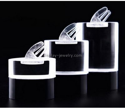 China acrylic display manufacturers custom design clear plastic stands display earring stands for sale EDJ-026