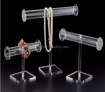 Customized acrylic countertop display clear jewelry display necklace tree stand NDJ-014