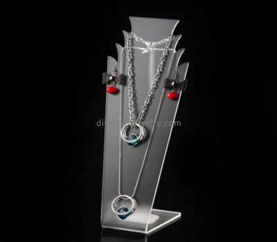 Custom design necklace display bust wholesale acrylic necklace bust stand lucite stands for display NDJ-039
