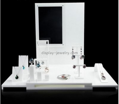 Custom acrylic product display standing necklace holder cheap jewellery display stands NDJ-048