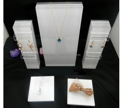 Custom acrylic merchandise display multiple necklace display stand cheap jewellery display stands NDJ-057