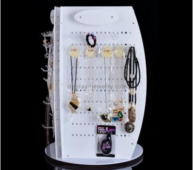 Custom acrylic display and holders jewlery display white necklace display stand NDJ-059