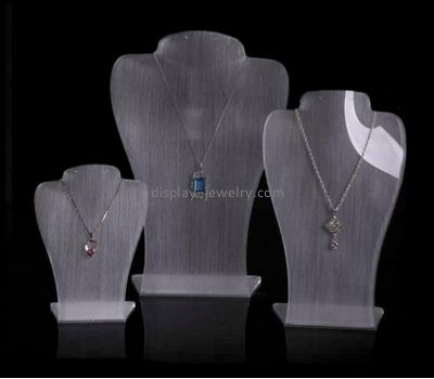 Custom acrylic displays and holders jewellery display busts wholesale acrylic necklace stand NDJ-064