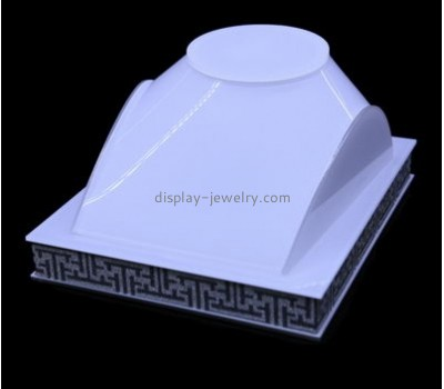Acrylic retail displays wholesale display jewelry white necklace stand NDJ-070