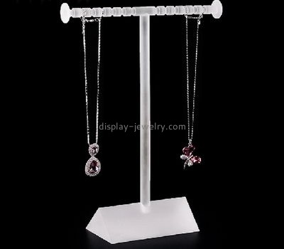 Custom plastic display stands acrylic jewelry display t bar necklace display NDJ-073