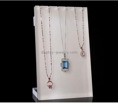 Custom acrylic plastic holder jewellry display stands acrylic necklace display NDJ-086