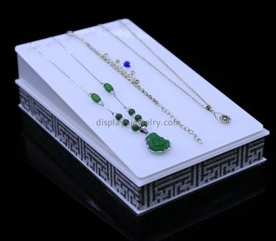 Custom acrylic lucite display retail jewellery display stands necklace display holder NDJ-093