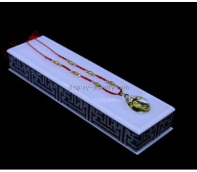 Custom acrylic long necklace jewelry display products stands for sale NDJ-152