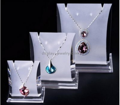 Acrylic display manufacturers custom acrylic cheap jewelry necklace stand displays wholesale NDJ-204