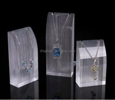 Acrylic display factory custom cheap jewelry necklace displays stands NDJ-234