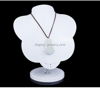 Acrylic display manufacturers custom acrylic necklace bust jewelry display stands NDJ-244