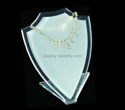 Jewelry display manufacturers customize acrylic jewellery tall necklace display stands NDJ-258