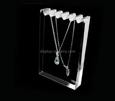 Jewelry display manufacturers customized clear acrylic necklace display NDJ-261