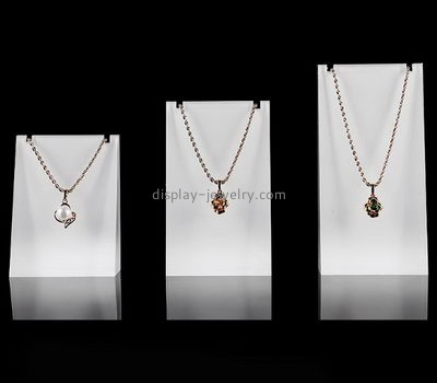Jewelry display manufacturers customized acrylic cube long necklace holder NDJ-268
