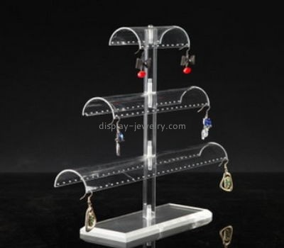 Retail display manufacturers custom plexi earring stands for sale EDJ-338