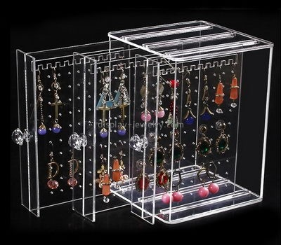 Acrylic display supplier custom acrylic earring stud product display organizer EDJ-357