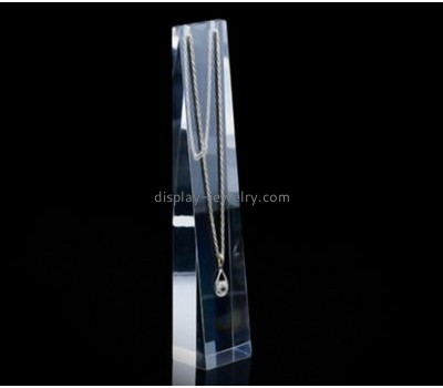 Customized acrylic long necklace display NDJ-381
