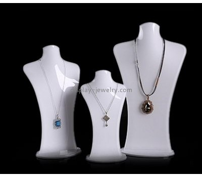 Customize white acrylic necklace bust display stand NDJ-505