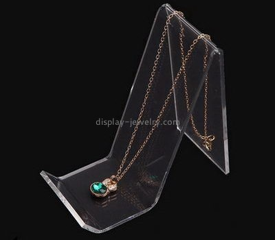 Customize clear long necklace display stand NDJ-531