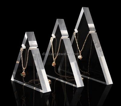 Customize clear multiple necklace display stand NDJ-594