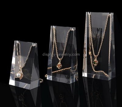 Customize clear tall necklace display stand NDJ-595