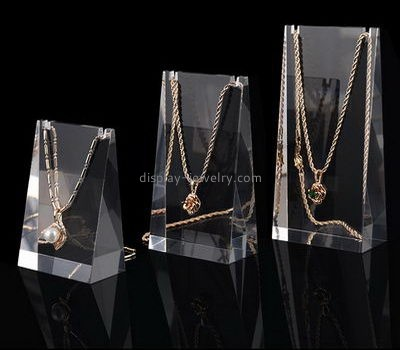 Customize clear tall necklace display stand NDJ-605