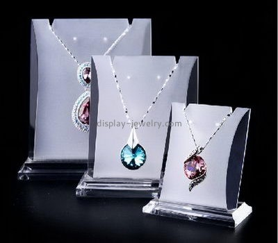 Customize acrylic cheap necklace stand NDJ-624