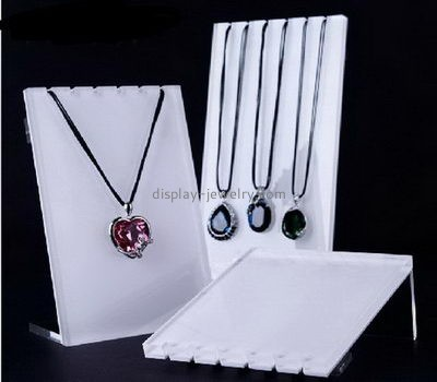 Customize acrylic white necklace display stand NDJ-626