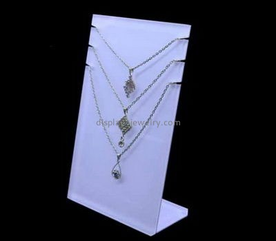 Customize white necklace display stand NDJ-686