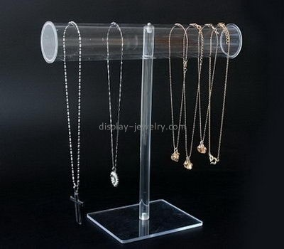 Customize lucite t bar necklace stand NDJ-744
