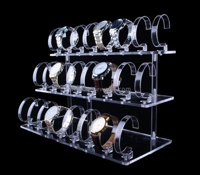 Clear acrylic 3 tiered watch display stands WDJ-035