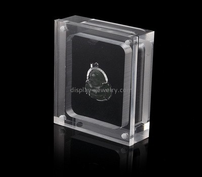 Clear acrylic pendant display box with lid ODJ-097
