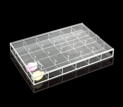 Custom clear acrylic 24 grids jewelry storage boxes ODJ-105