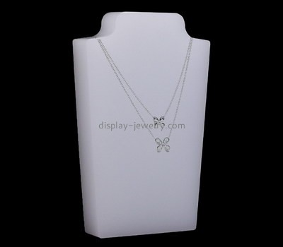 Custom acrylic block display stand for necklace NDJ-794